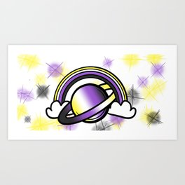Space Queers: Non Binary Art Print