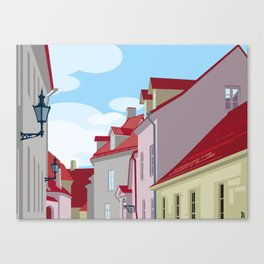 Tiled roofs Canvas Print