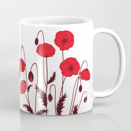 Bright floral pattern on a white background with decorative elements. Coffee Mug