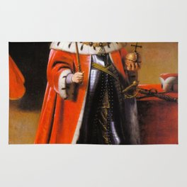 Gothic royal portrait Rug