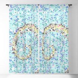Mediterranean Wave Mosaic Sheer Curtain