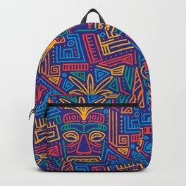 Tiki pattern Backpack