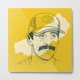 Mustachioed GOAT Metal Print