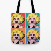 marilyn Tote Bags featuring Marilyn by powerpig