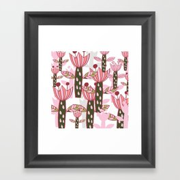 flower pink contemporary kids nursery Framed Art Print