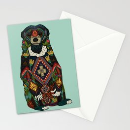 sun bear mint Stationery Cards