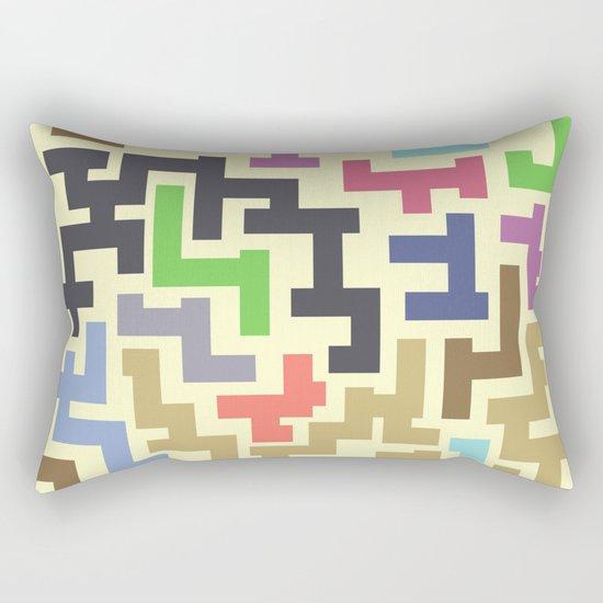 Colorful Maze IV Rectangular Pillow