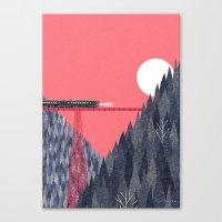 bridge Canvas Prints featuring Railroad Bridge by Ryo Takemasa