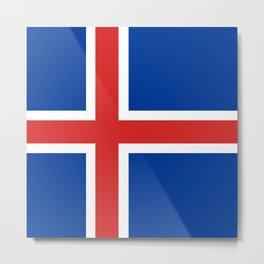 Flag: Iceland Metal Print