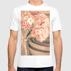 One More Time White MEDIUM Mens Fitted Tee