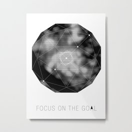 VISION CITY - FOCUS ON THE GOAL Metal Print