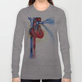 Anatomical Heart, Abstract blood Long Sleeve T-shirt
