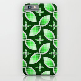 Silver Foil Green Tea Mint Stained Glass Herbal Design iPhone Case