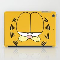 garfield iPad Cases featuring Garfield Face by julien tremeau
