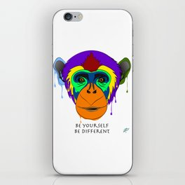Be yourself, be different - chimpanzee iPhone Skin