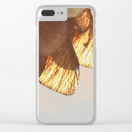 Cluster of lightened leaves Clear iPhone Case