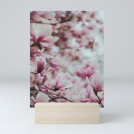 Pink Magnolia Flowers 2 Mini Art Print