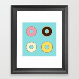 Four Doughnuts Framed Art Print