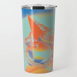 mc-N; Black Dot. Travel Mug