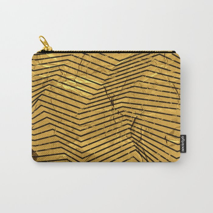 Line Gold Pattern Carry-All Pouch