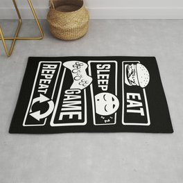 Eat Sleep Game Repeat | Video Game Console Gaming Rug