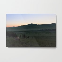 Sunrise in Inner Mongolia Metal Print