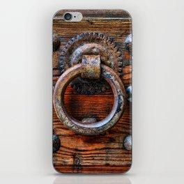 Door knocker iPhone Skin