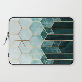 Teal Hexagons Laptop Sleeve