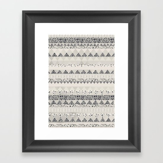 MONOTONE  GEOMETRIC ANIMAL PRINT  Framed Art Print