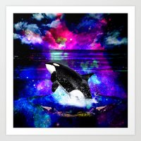 orca Art Prints featuring Orca by haroulita
