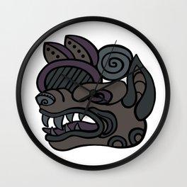 Wolf Snarl Glyph Wall Clock