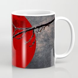 Modern Blood Red Moon Rain Gothic Decor A175 Coffee Mug