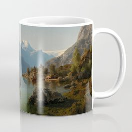 Bridal Procession on the Hardangerfjord, 1848 Coffee Mug