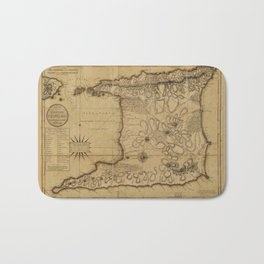 Map of the Isle of Trinidad (1797) Bath Mat