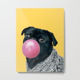 Pug Life: Pop Animals Metal Print