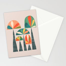 Quirky retro palm trees Stationery Cards