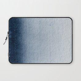 Indigo Vertical Blur Abstract Laptop Sleeve