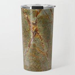 Forest Green Marble Travel Mug