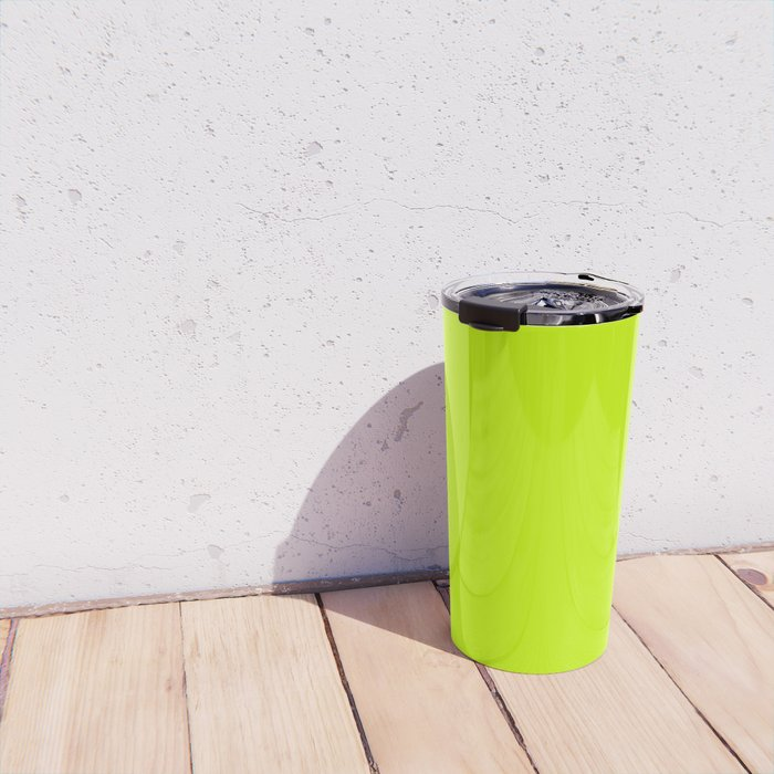 Fluorescent Yellow - solid color Travel Mug
