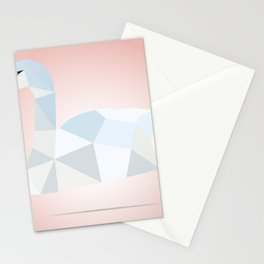 SWAN LOW POLY ART Stationery Cards