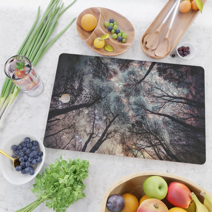 Starry Sky in the Forest Cutting Board