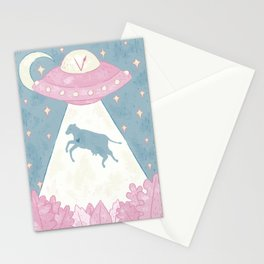 aliens are vegan Stationery Cards