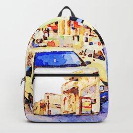 Aleppo: Taxi through the streets of Aleppo Backpack