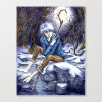 jack frost Canvas Prints featuring Jack Frost by MissKerrieJ