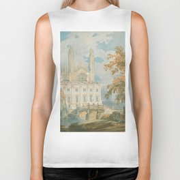 """J.M.W. Turner """"Clare Hall and King's College Chapel, Cambridge, from the Banks of the River Cam"""" Biker Tank"""