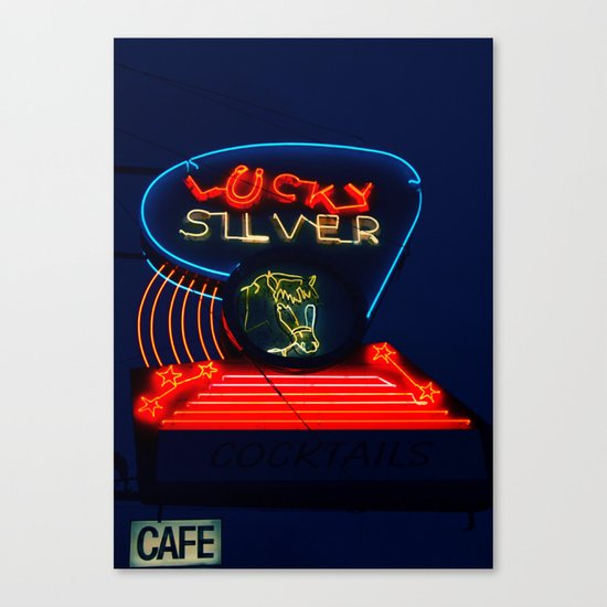 Old 99 Neon Canvas Print