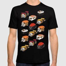 Sushi English Bulldog T-shirt