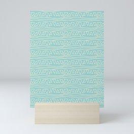 Blue Scribbles Pattern 05 Mini Art Print