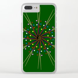 Snooker Cues and Balls Circle Clear iPhone Case