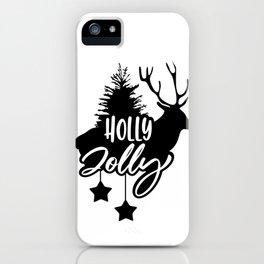 Christmas - Holly Jolly Reindeer iPhone Case